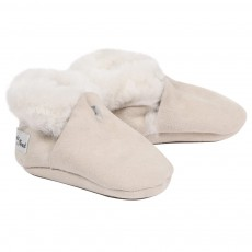 Chaussons peau retourn&eacute;e B&eacute;b&eacute; - Beige