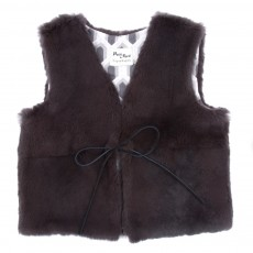 Gilet fourrure - Gris