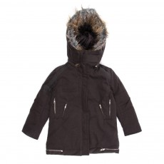 Parka col imitation fourrure