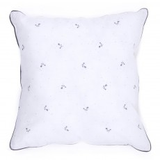 Coussin blanc - Imprim&eacute; Fleurs