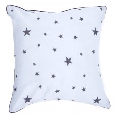 Coussin bleu - Imprim&eacute; Etoiles