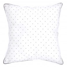 Coussin cr&egrave;me - Imprim&eacute; Pois