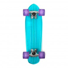 Skateboard Bantam transparent - Bleu