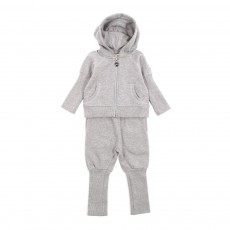 Ensemble jogging ajustable Bébé - Gris chiné