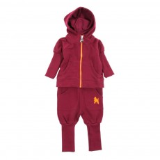 Ensemble jogging ajustable Bébé - Prune