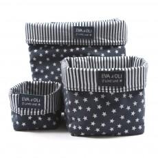 Boîte de rangement Bleu marine - Etoiles argent
