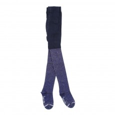 Collants lurex - Bleu marine