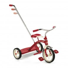 Tricycle avec canne Classic Red 10 Rouge
