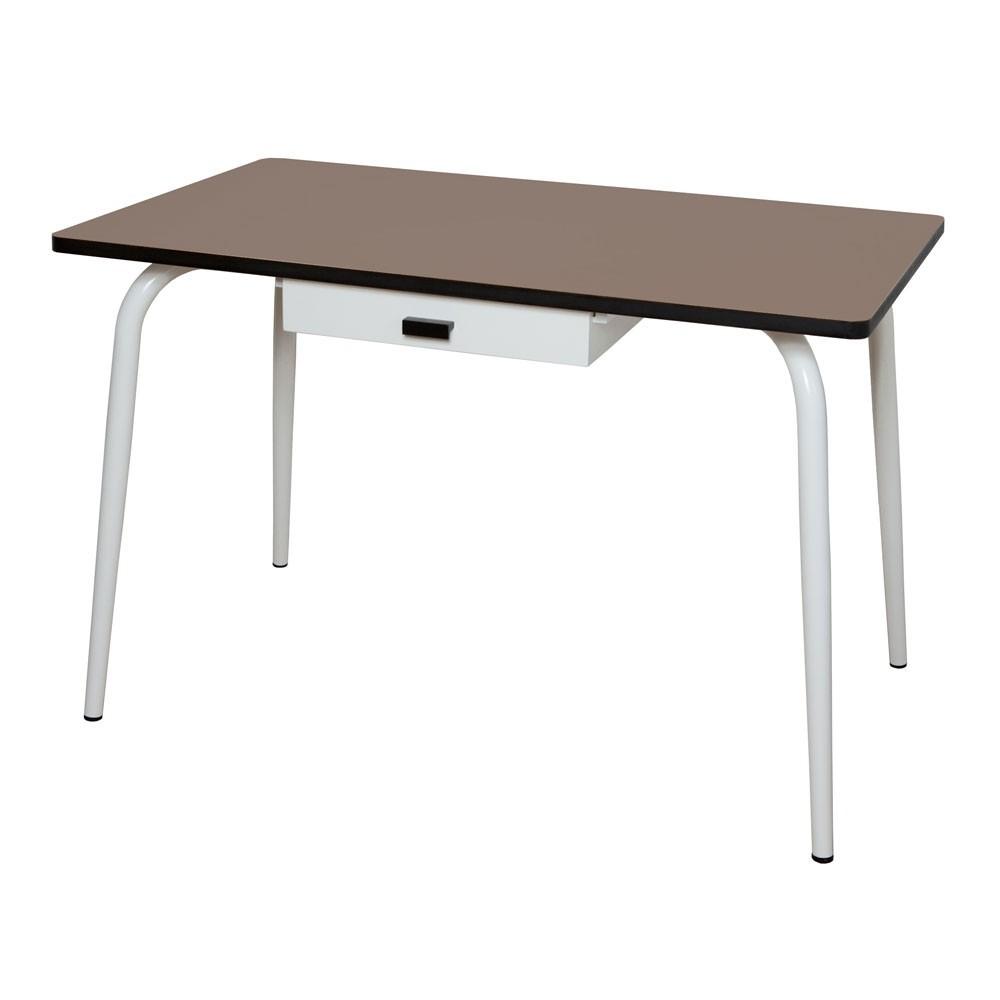 table vera avec tiroir taupe les gambettes mobilier smallable. Black Bedroom Furniture Sets. Home Design Ideas