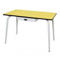 Table Vera avec tiroir - Jaune