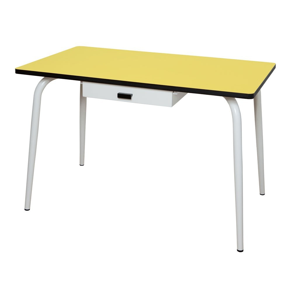 table vera avec tiroir jaune les gambettes mobilier smallable. Black Bedroom Furniture Sets. Home Design Ideas