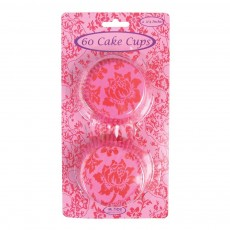 Set de 60 habillages cupcake - Fuschia et rouge