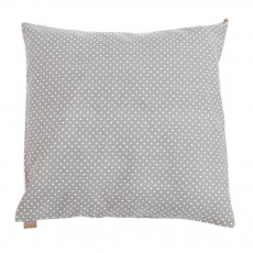 Coussin imprim&eacute; gros pois - Taupe