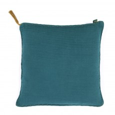Coussin double saloo - Bleu p&eacute;trole