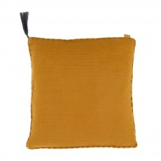 Coussin double saloo - Jaune moutarde