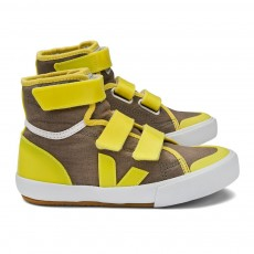 Baskets SPMA Velcro - Jaune fluo