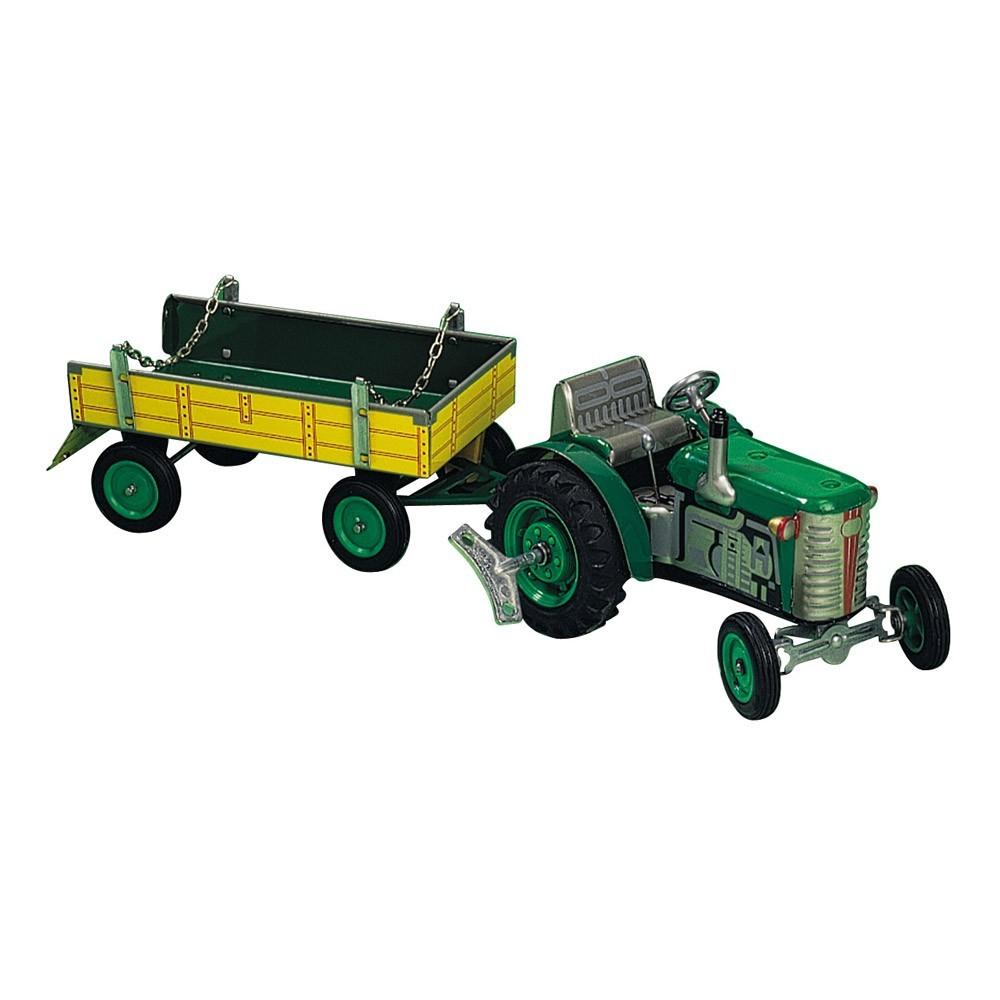 tracteur avec remorque vert smallable toys jeux jouets. Black Bedroom Furniture Sets. Home Design Ideas