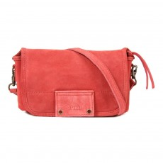 Sac veau velours June - Corail