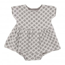 Robe Poupy Pois B&eacute;b&eacute; - Gris