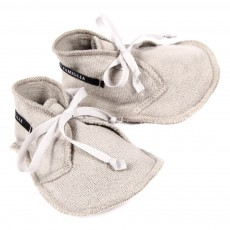 Chaussons B&eacute;b&eacute; - Gris clair