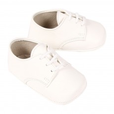 Derbies B&eacute;b&eacute; - Blanc cass&eacute;