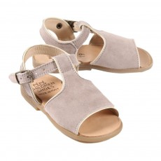 Sandales Suede B&eacute;b&eacute; - Taupe