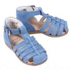 Sandales cuir Jules B&eacute;b&eacute; - Bleu