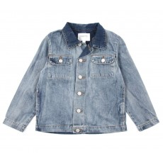 Veste en jean d&eacute;lav&eacute;e