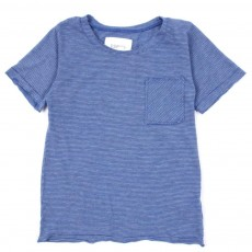 T-shirt &agrave; rayures - Bleu