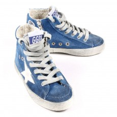 Baskets montantes Superstar - Bleu roi