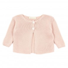 Cardigan point mousse B&eacute;b&eacute; - Rose p&acirc;le