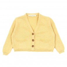 Cardigan maille B&eacute;b&eacute; - Ocre