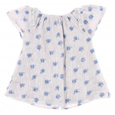 Robe Solange lurex B&eacute;b&eacute; - Bleu