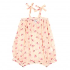 Combinaison Clara lurex B&eacute;b&eacute; - Rose