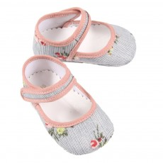 Chaussons Bella &agrave; fleurs B&eacute;b&eacute;