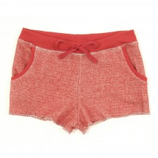 Short en molleton bouclette - Rouge