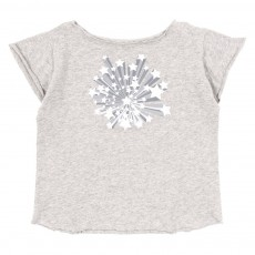 T-shirt Papillon - Gris chiné
