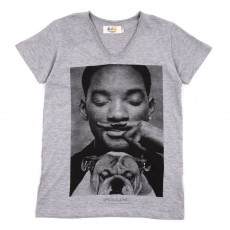 T-shirt Little Smith - Gris chiné