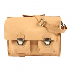 Cartable cuir - Naturel