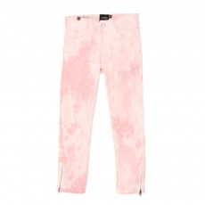 Jean zip Bamboo Tie &amp; Dye - Rose