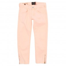 Jean zip Bamboo Fluo - Rose p&ecirc;che