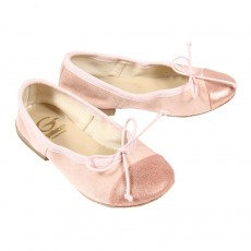 Ballerines bicolores - Rose p&acirc;le