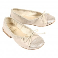 Ballerines bicolores - Ecru