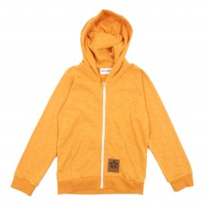 Sweat à capuche zippé French Terry - Orange