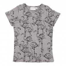 T-Shirt Flamingo - Gris clair