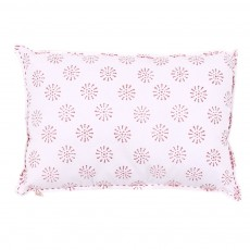 Coussin Fleurs - rose