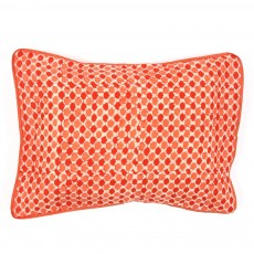 Coussin - imprim&eacute; pois oranges