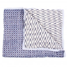 Grand plaid r&eacute;versible enfant -  imprim&eacute; Ikat