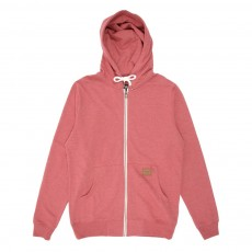Sweat zippé à capuche - Rouge
