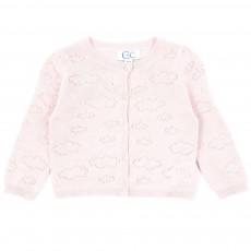 Cardigan Lurex Nuage B&eacute;b&eacute; - Rose